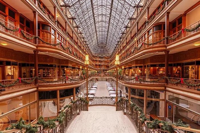 the stunning Cleveland Arcade
