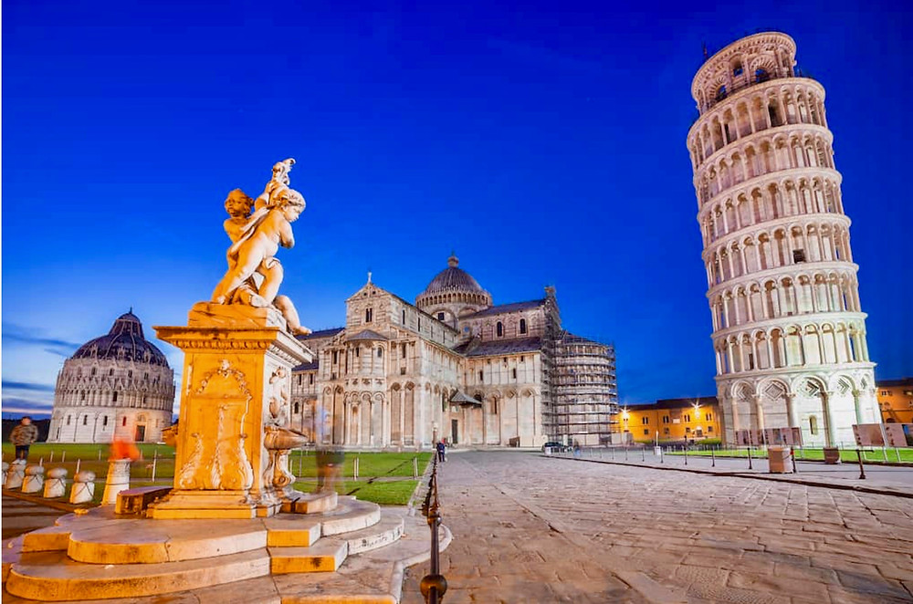 the UNESCO-listed Field of Miracles in Pisa, a must see site in Tuscany