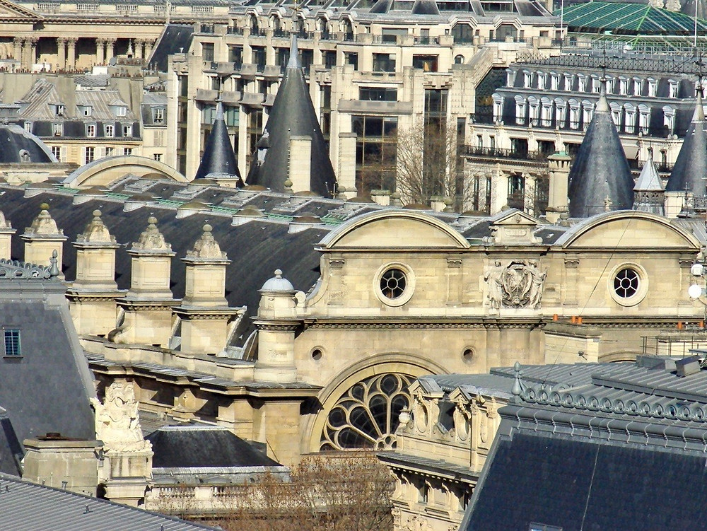 Paris skyline. Rooftops of La Conciergerie