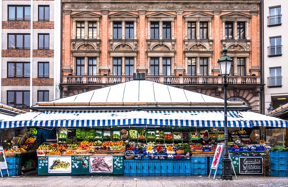 fresh produce at Victualienmarkt in Munich
