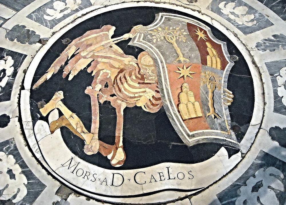 Bernini's Winged Death design for the mosaic floor