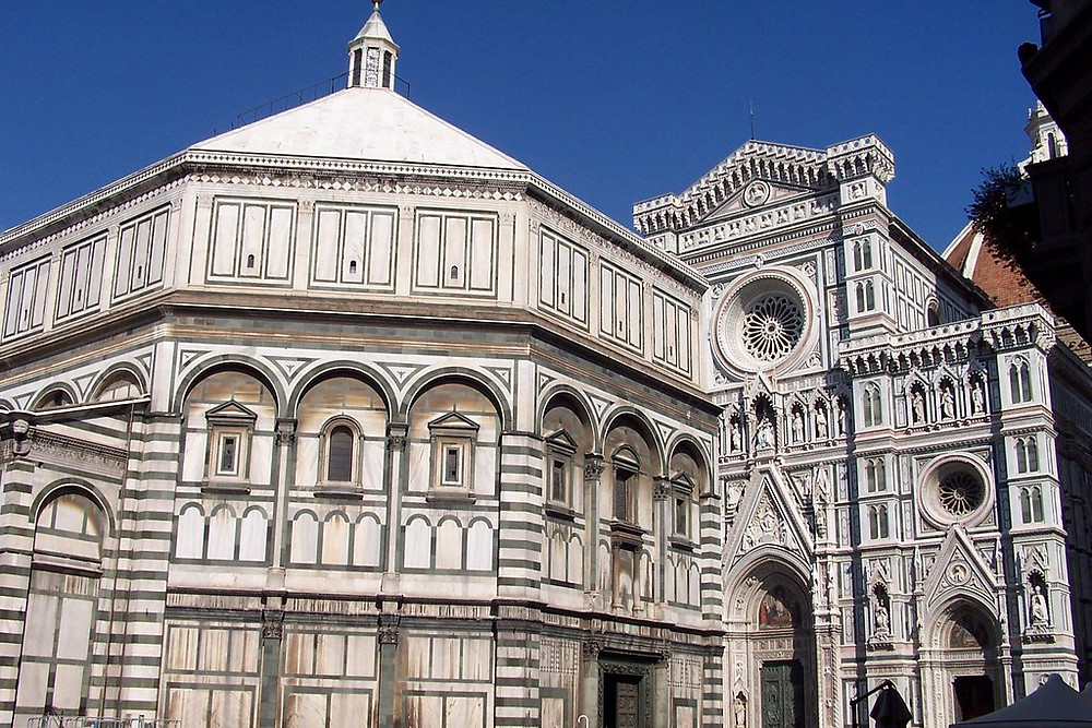 the facade of Florence's Baptistery