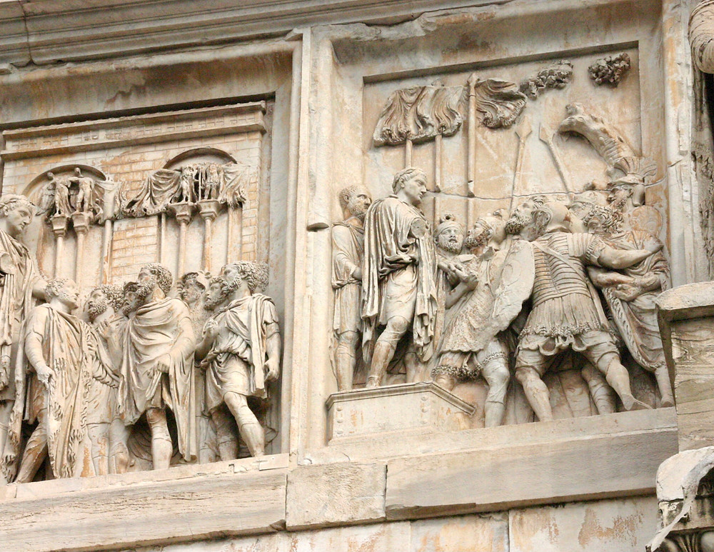 detail of Arch of Titus