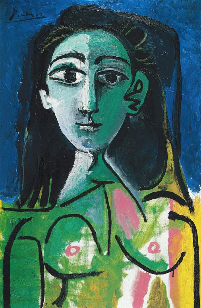 Pablo Picasso, Buste de Femme (Jacqueline), 1963.