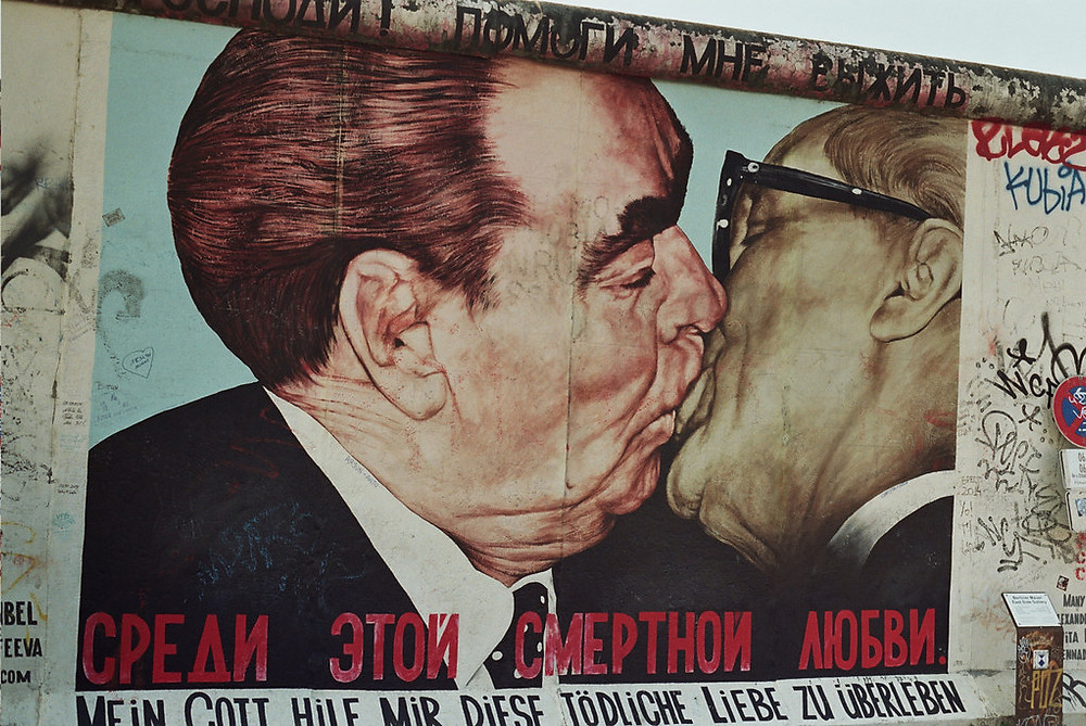 the Fraternal Kiss on the Berlin Wall