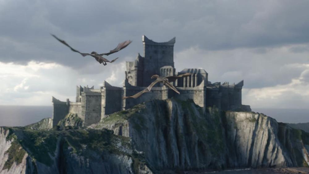 Gaztelugatxe dressed up as Dragonstone on Game of Thrones