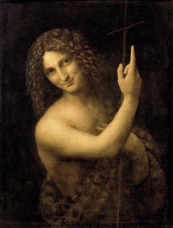 Leonardo da Vinci, St. John the Baptist, 1513-16