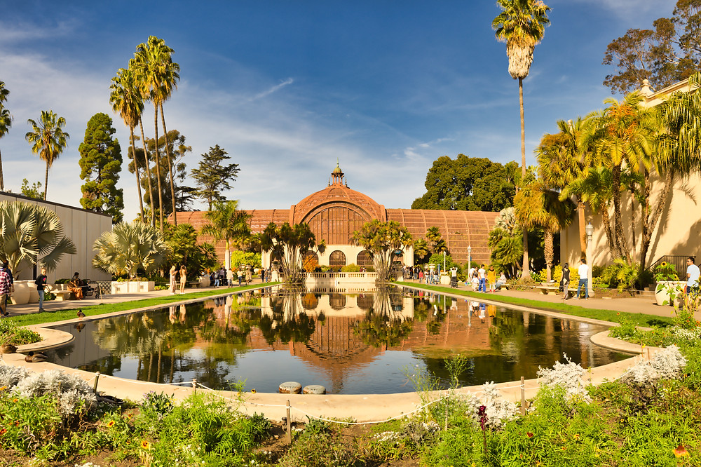 the botanical building and lily pond at Balboa Park
