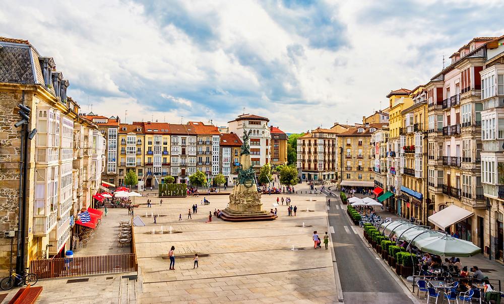 Plaza de la Virgen Blanc in Vitoria-Gasteiz