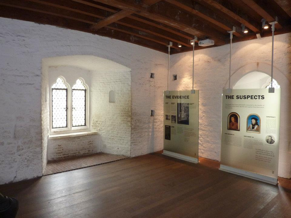 room dedicated to the two murdered princes in the Bloody Tower