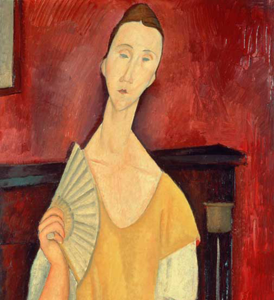 Amadeo Modigliani, Woman with a Fan,, 1919, stolen by the Spiderman thief