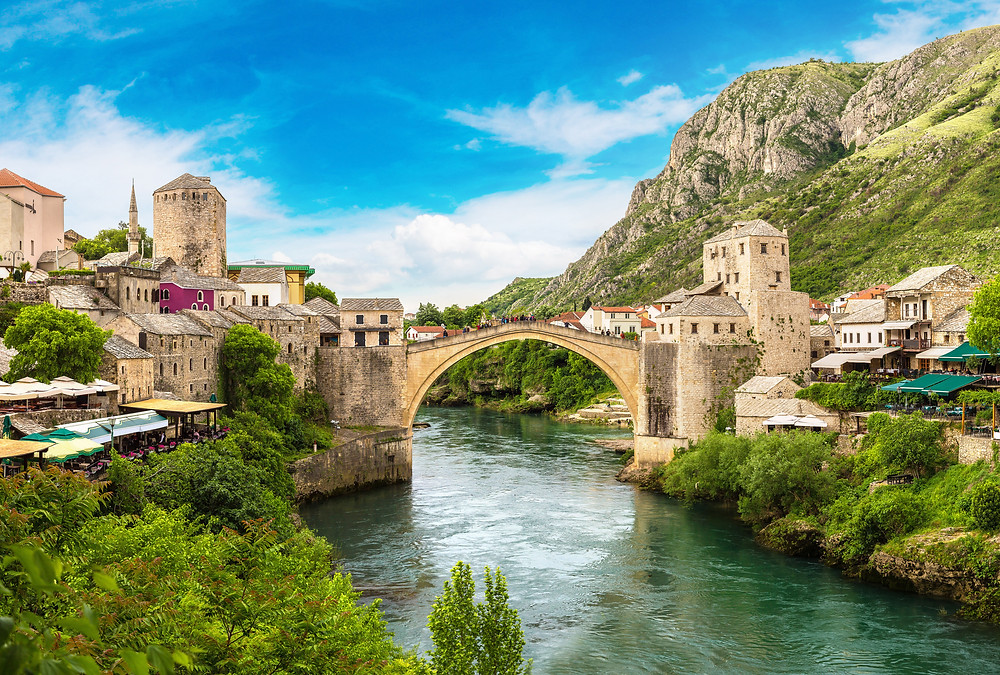 the Old Bridge, Star Most, in Mostar