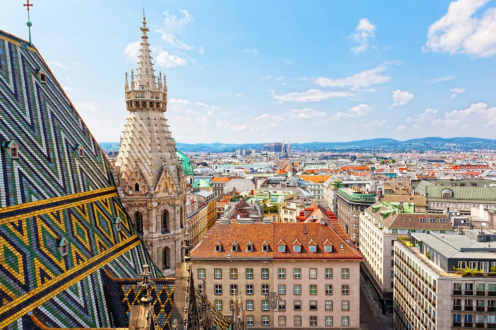 view from St. Stephens' Cathedral in Vienna
