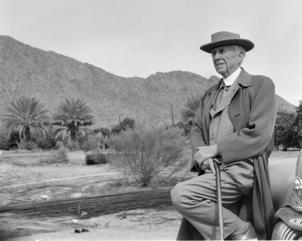 Frank Lloyd Wright, a Trump-like figure except without NYC