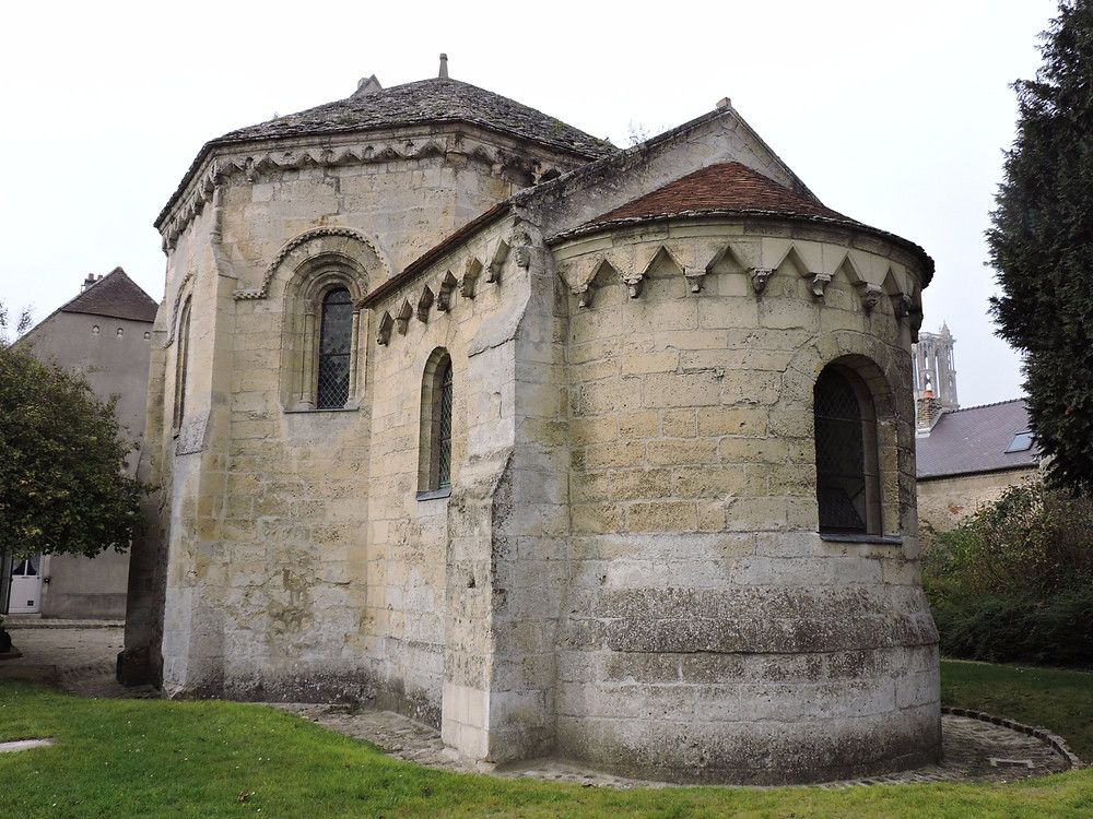 Knights Templar chapel in Laon France, dating from 1180. It is one of only three round or octagonal Knights Templar chapels in France.