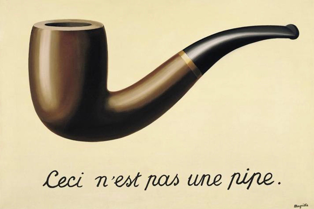 Rene Magritte, The Treachery of Images, 1929 -- at LACMA in Los Angeles