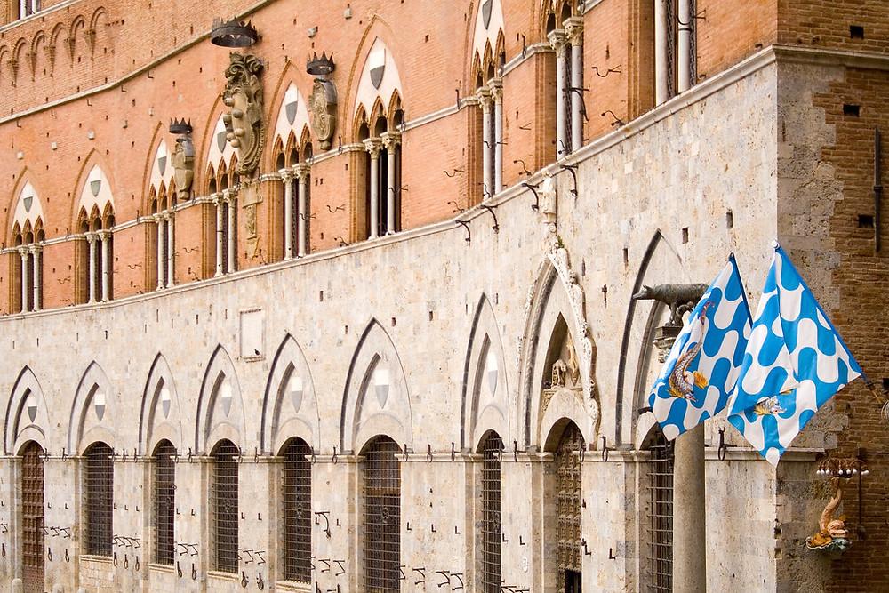 facade detail of Palazzo Pubblico