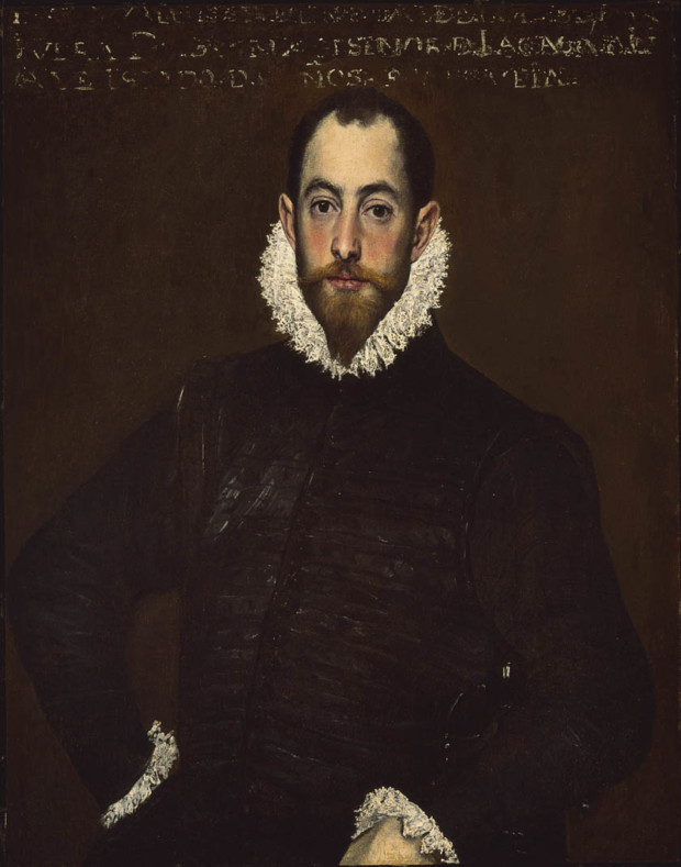 El Greco, Portrait of a Man of the House of Leiva, About 1580-1585,