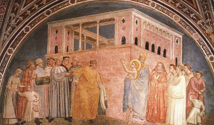 Giotto, Abjuration of the Father -- Bardi Chapel
