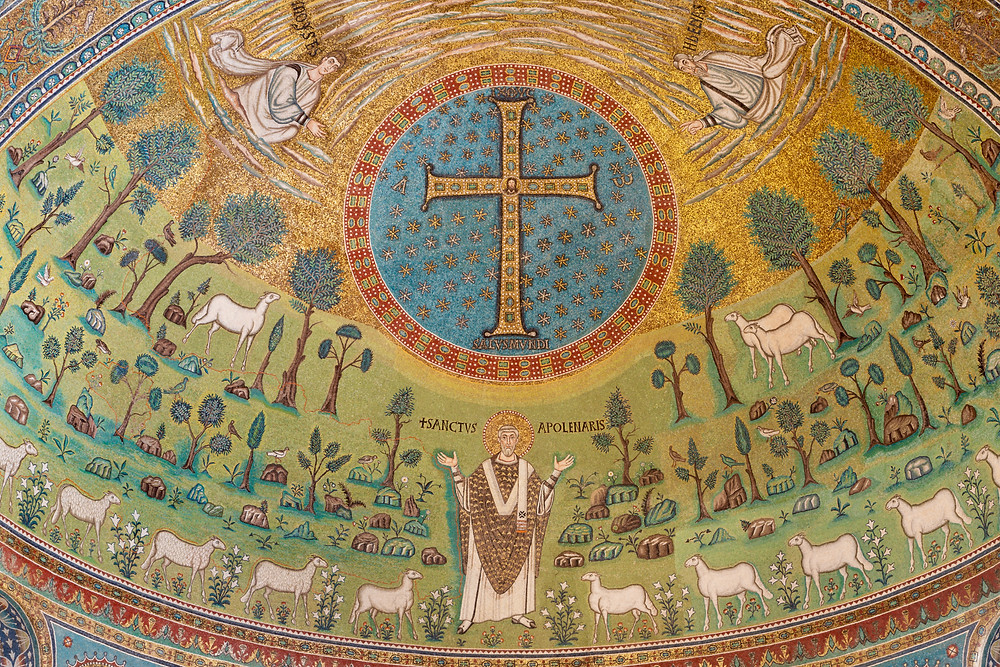 the apse mosaic in Sant'Apollinare in Classe