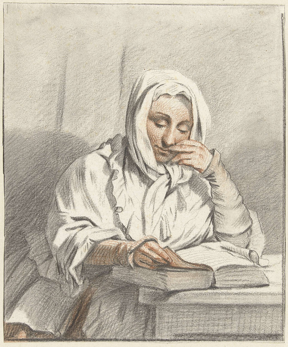 Young Woman Reading Book from the Rijksmuseum