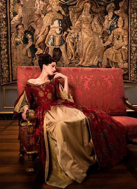 Queen Marie-Thérèse (Elisa Lasowski) wife of Louis XIV at Vaux-le-Vicomte