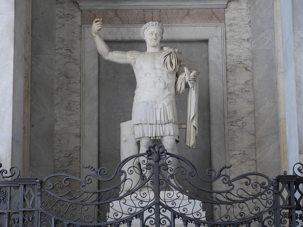 statue of Constantine in the vestibule