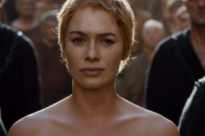 Cersei on the walk of shame