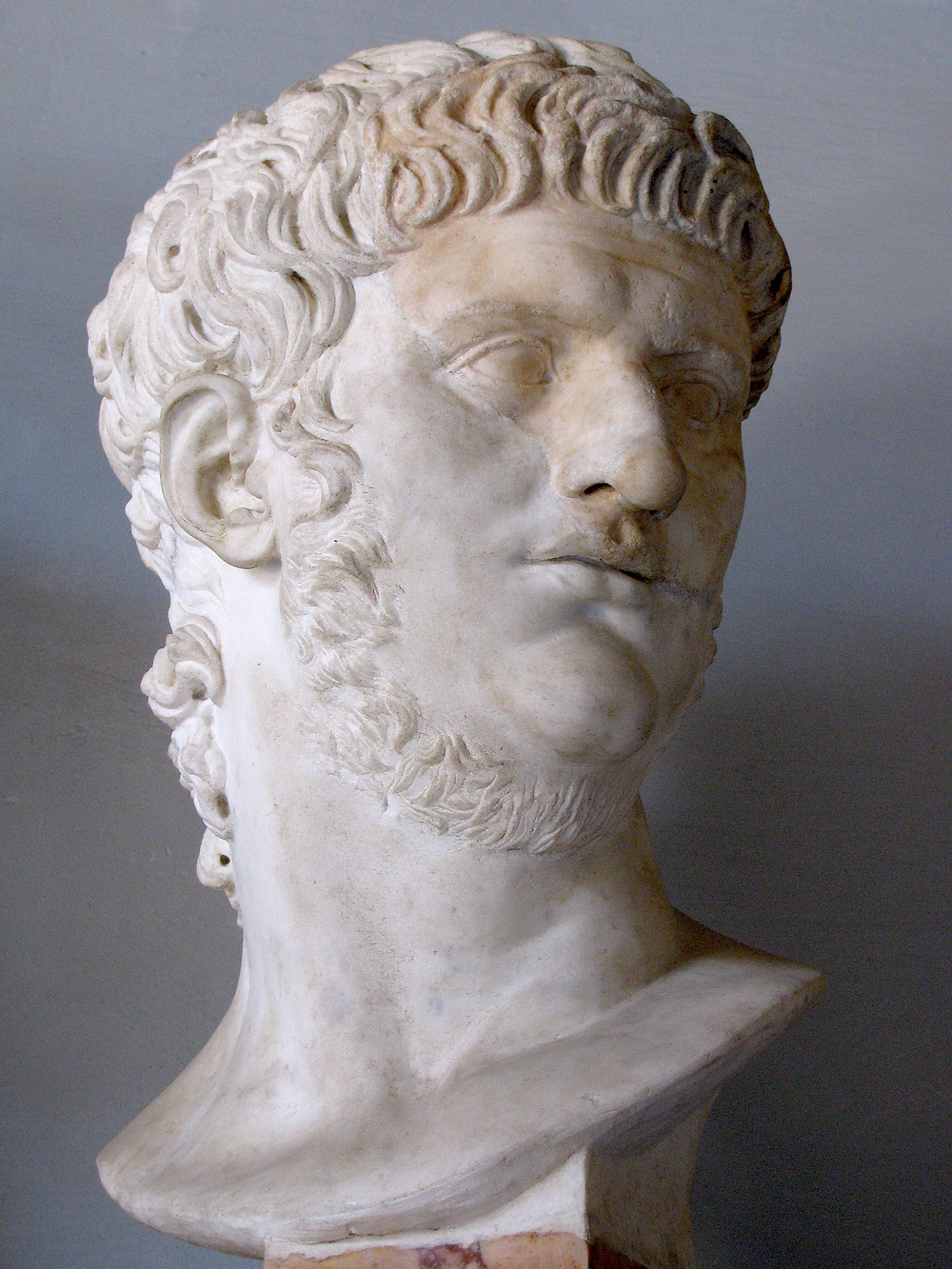 bust of Nero in the Capitoline Museum in Rome