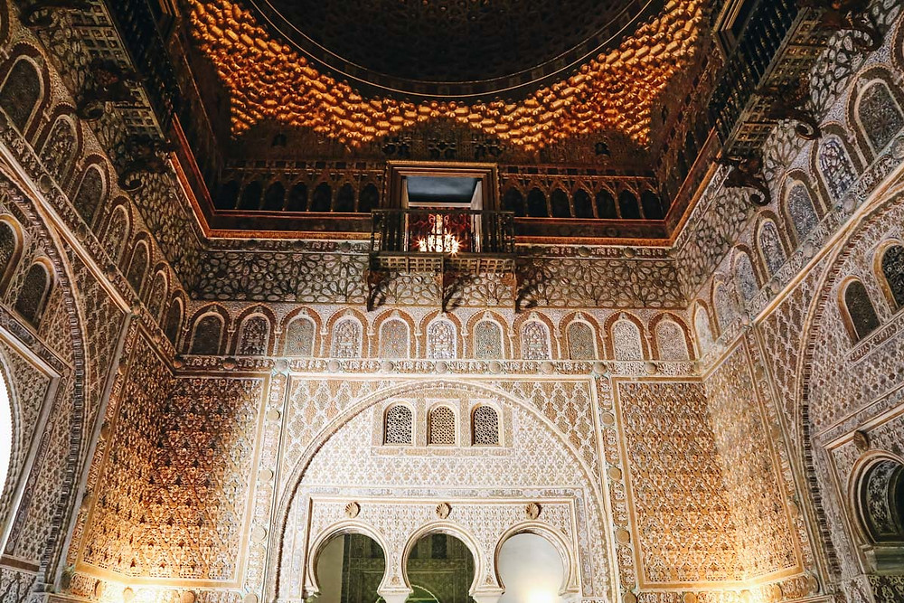 the Ambassador's Hall in Pedro's Palace in the Alcázar
