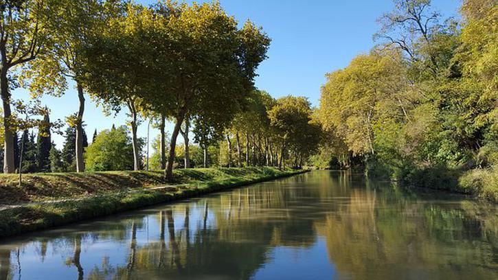 Canal du Midi, a UNESCO site outside Carcassonne