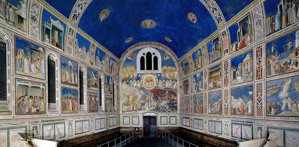 Giotto frescos in the Scrovegni Chapel in Padua, a must see site outside Venice