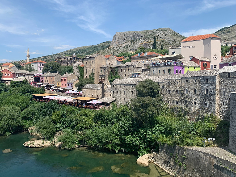 a stony Mostar old town