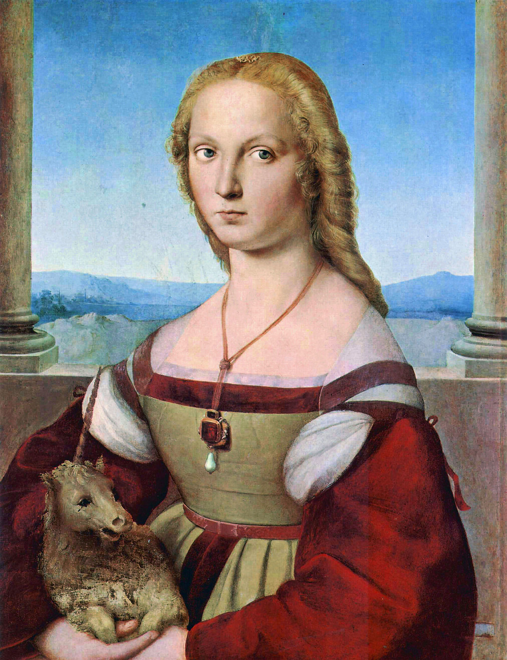 Raphael's Young Woman With a Unicorn in Rome's Borghese Gallery