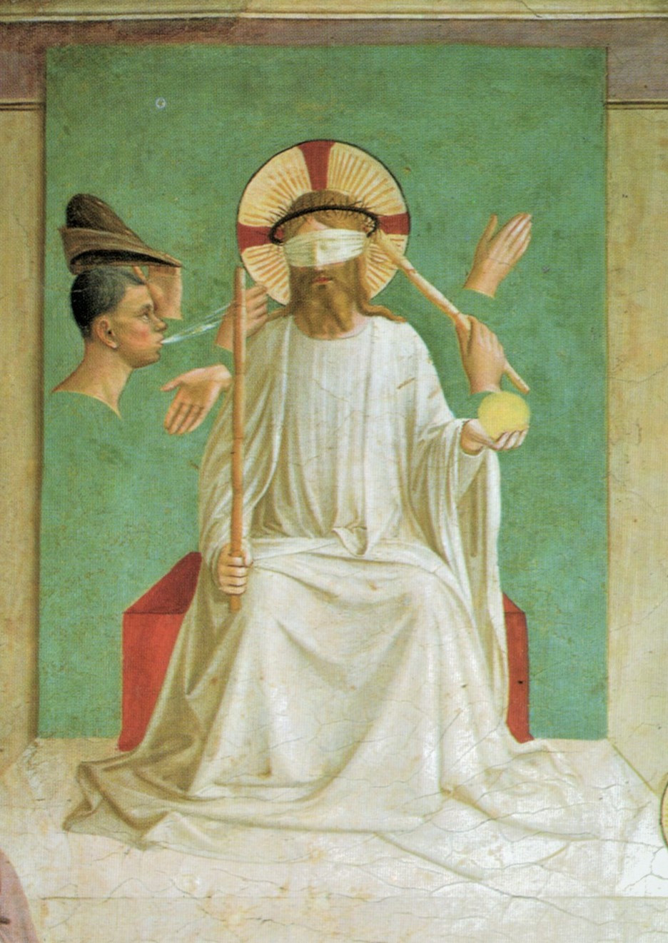 Fra Angelico, The Mocking of Christ, 1441 -- in Cell 7