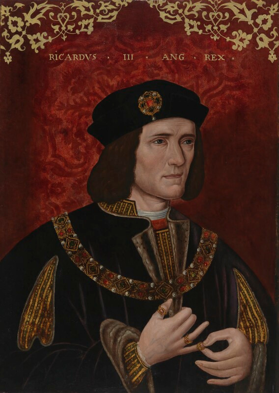 Richard III, portrait with overpaint, c. 1504–20 - The British Library. This painting was doctored and overpainted to make it appear that Richard III was a hunchback. His facial features were also altered.