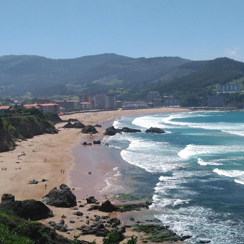Bakio Beach in northern Spain