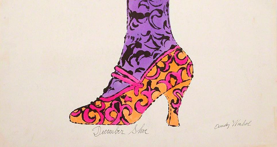 One of Warhol's beautiful shoe adds for I. Miller shoe company. Warhol's ads became so famous that sometimes the ads had no words.