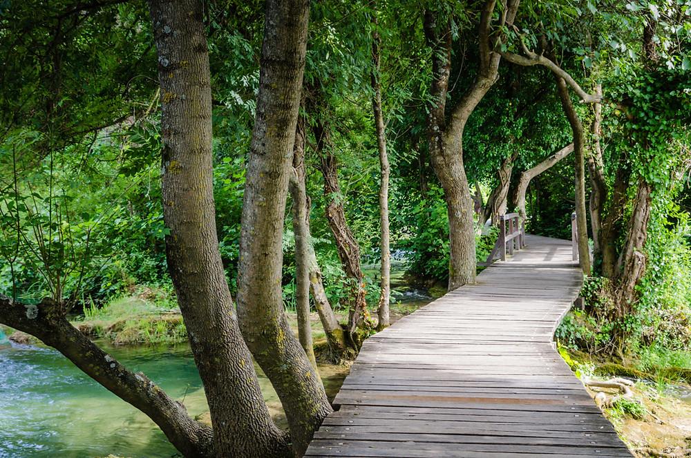 crowd free boardwalk paths at Krka National Park