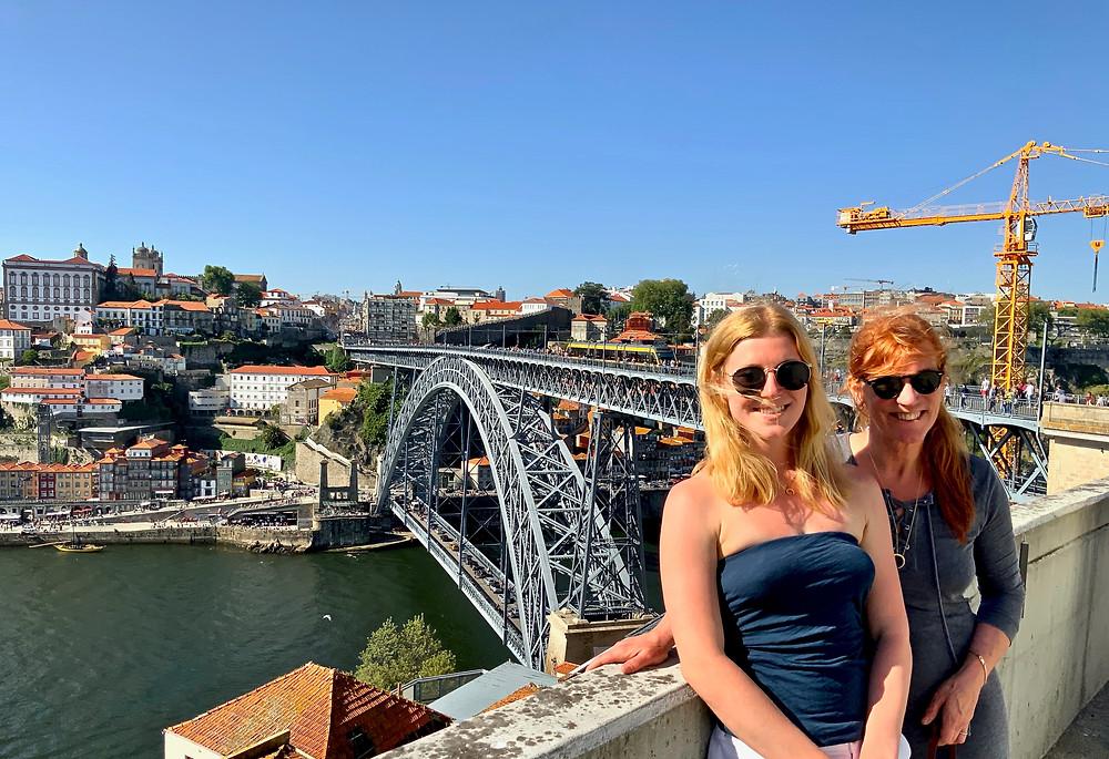 Ali and I at the Ponte de Dom Luis I, Gaia side