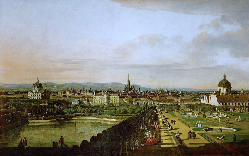 Canaletto, View of Vienna from Belvedere, 1758-61 -- in the Kunsthistoriches Museum
