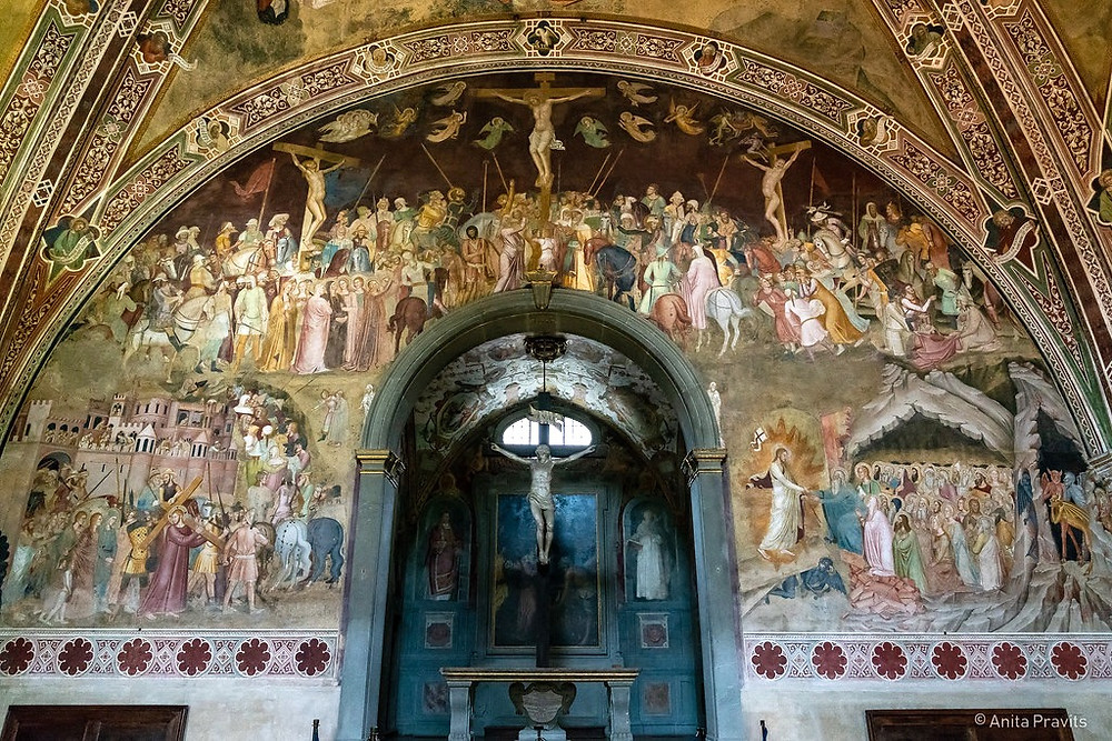 frescos in the Spanish Chapel above the altar