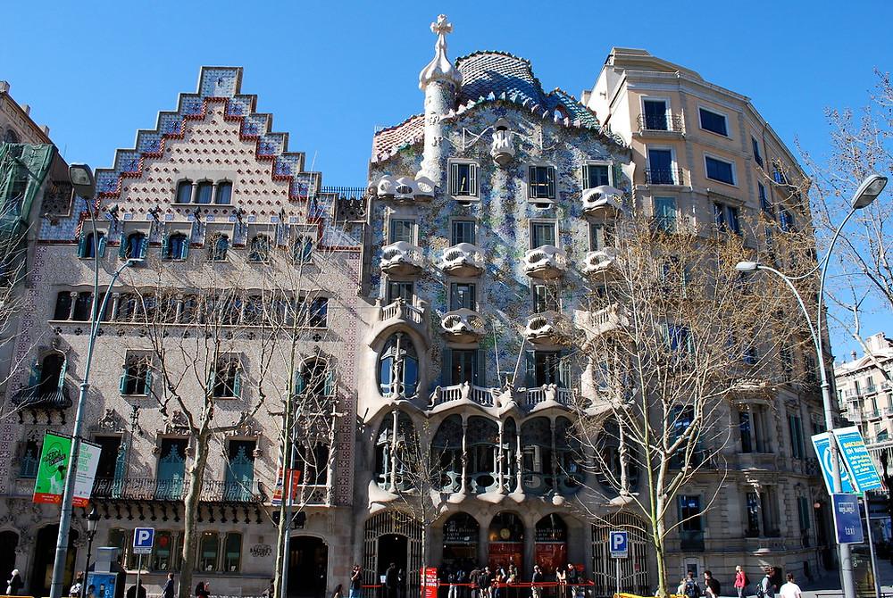 Right next door on the Block of Discord -- Casa Batlló and Casa Amatller