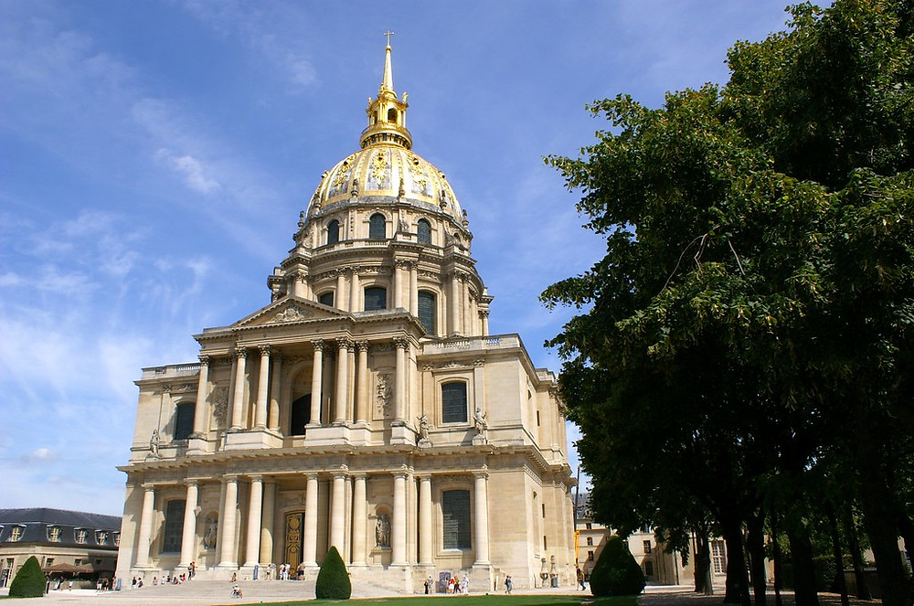 Les Invalides and its glittering dome