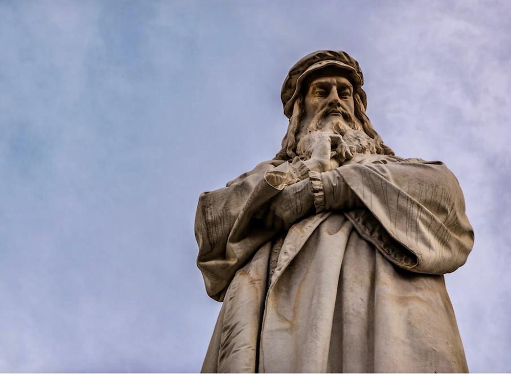 Pietro Magni, Monument to Leonardo da Vinci, 1872