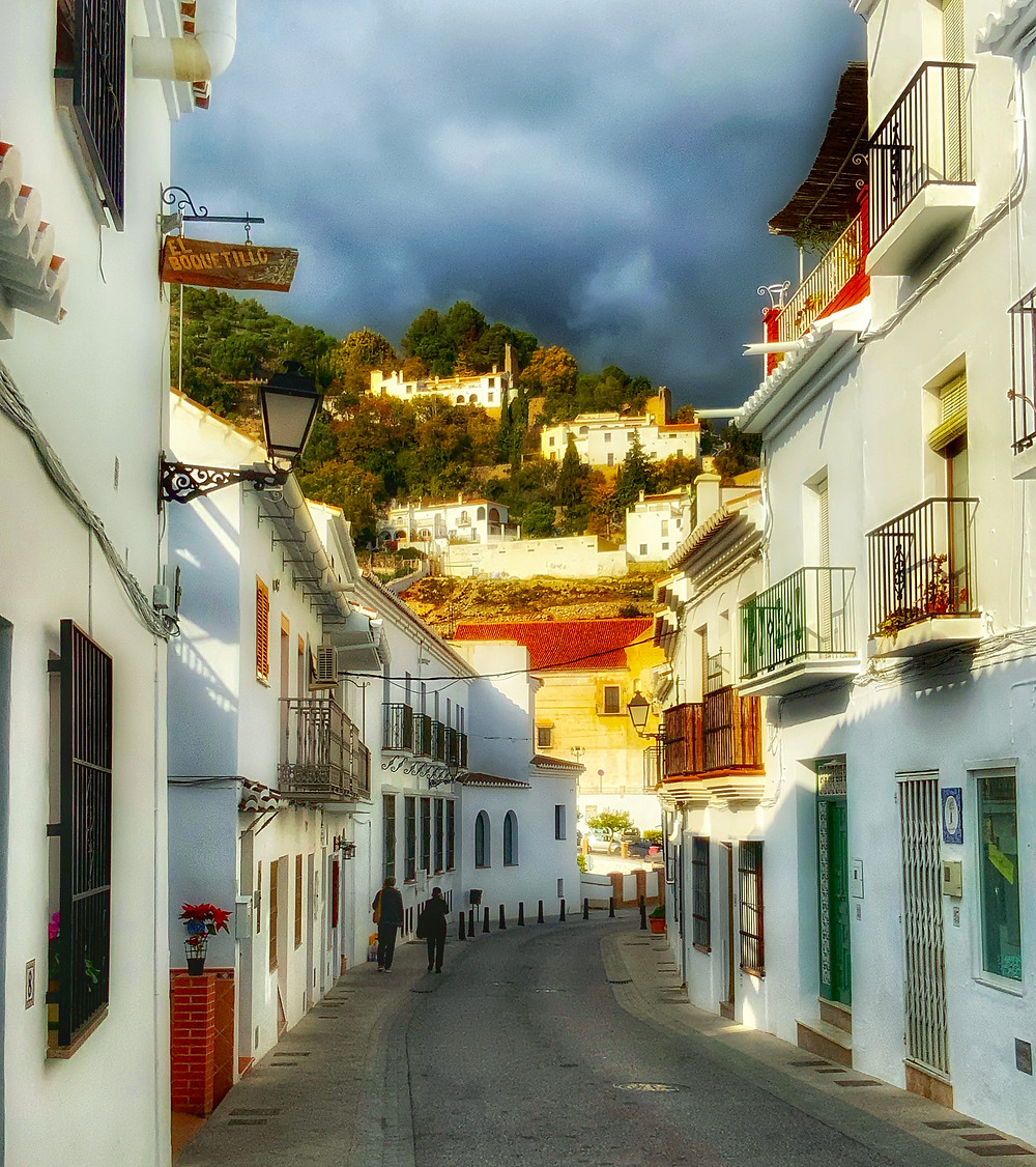 the main pathway through Frigiliana Spain