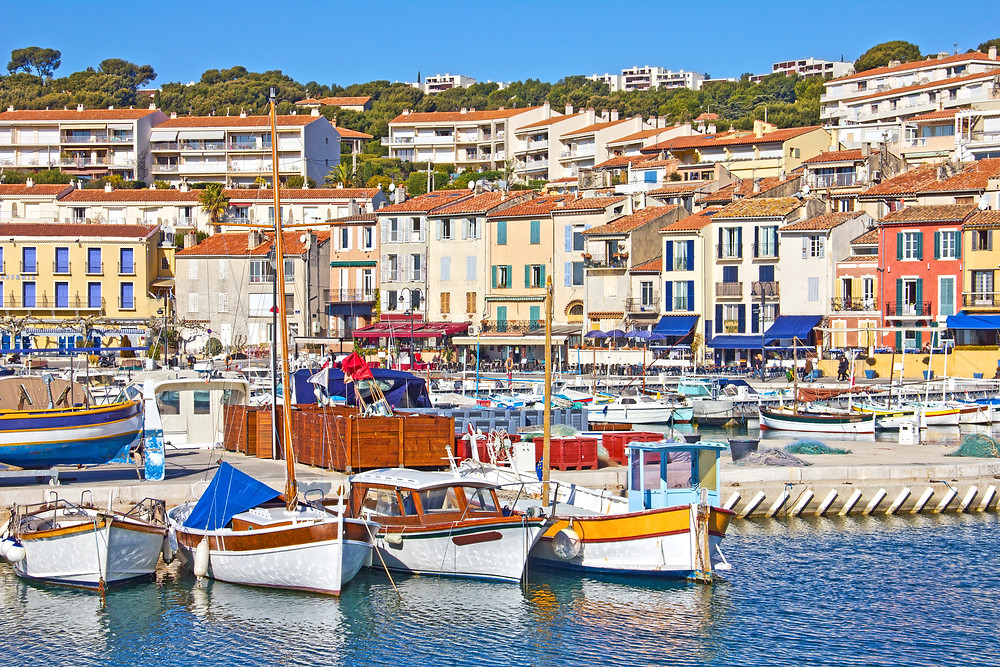 the harbor of the seaside town of Cassis in Provence