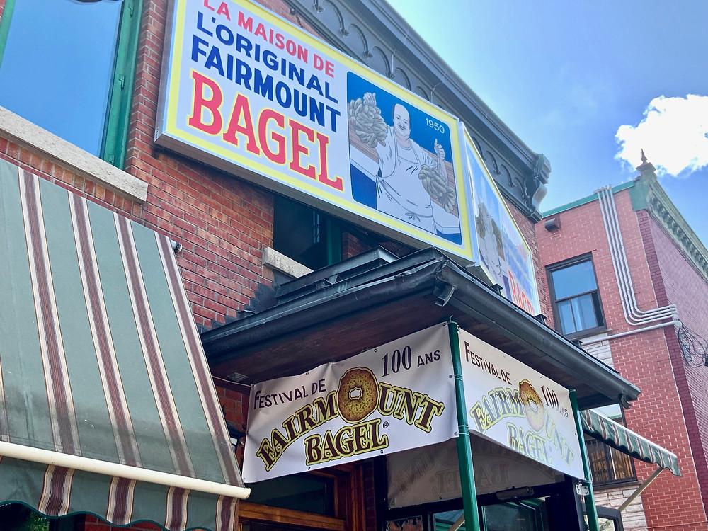 Fairmont Bagel shop in Mile End