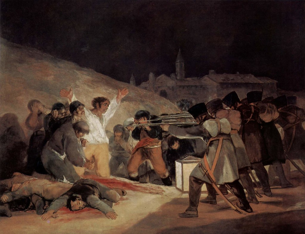 Francisco Goya, The Third of May, 1808, 1814 --one of the most famous paintings in the world