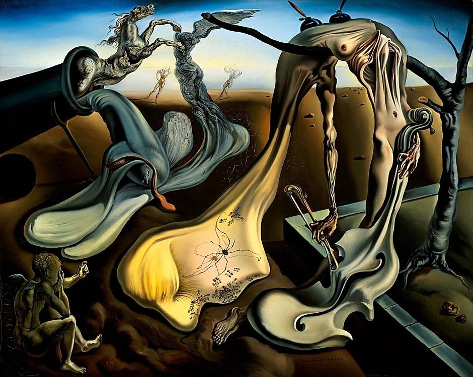 Salvador Dali, The Birth of Liquid Desire, 1943